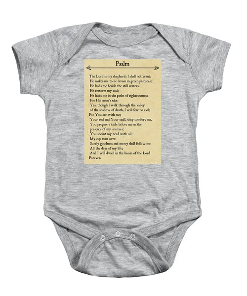 Psalm 23-bible Verse Wall Art Collection Baby Onesie
