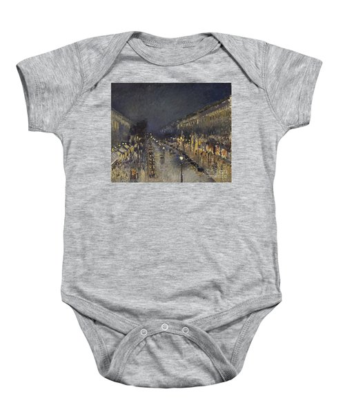 The Boulevard Montmartre At Night Baby Onesie