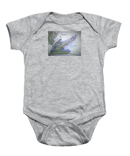 A Gift Of Lavender Baby Onesie