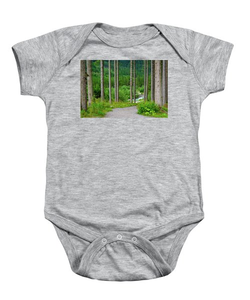 A Path To The River Baby Onesie