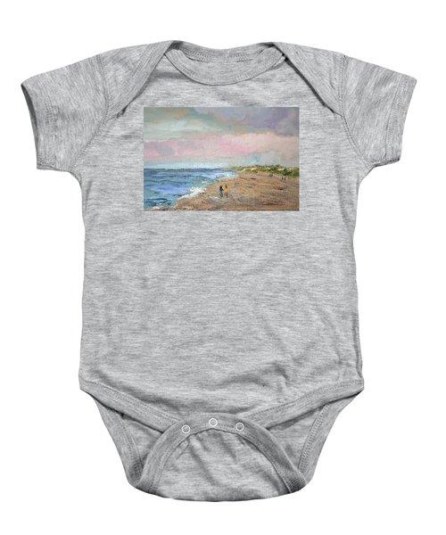 A Walk On The Beach Baby Onesie