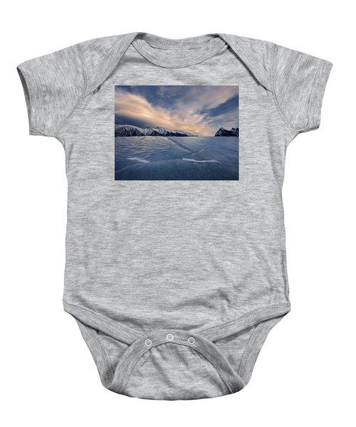 Abraham Lake Ice Wall Baby Onesie