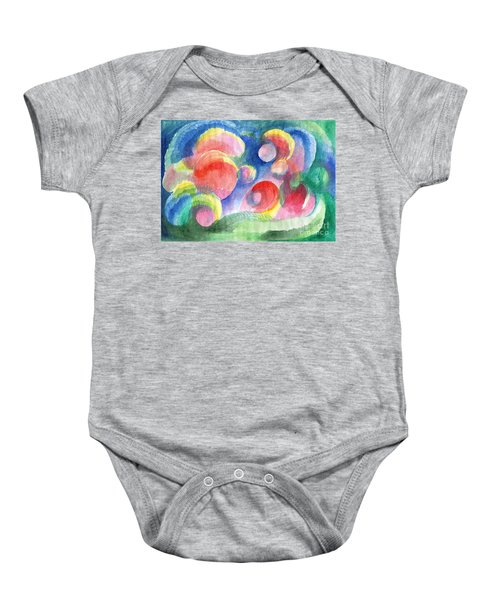 Abstract Bubbles Watercolor Baby Onesie