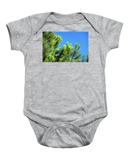 Adriatic Pine Against Blue Sky  Baby Onesie