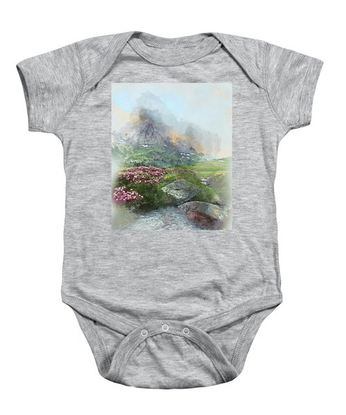 Afternoon Light In The Alps II Baby Onesie
