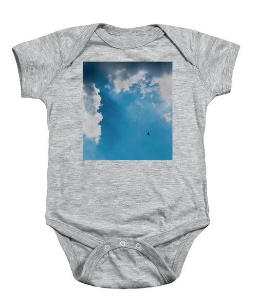 Colours. Blue. Alone. Baby Onesie