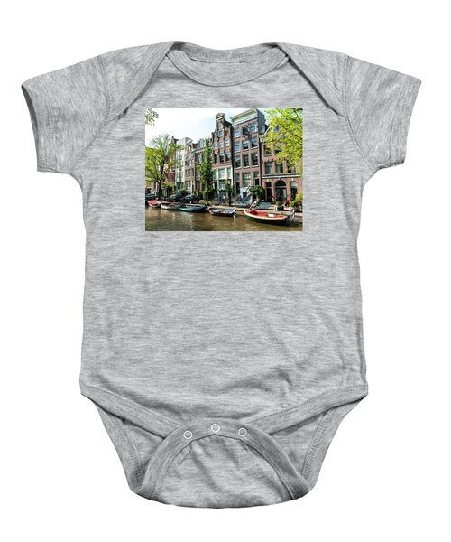 Along An Amsterdam Canal Baby Onesie