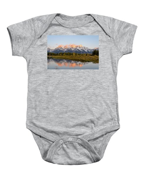 Baby Onesie featuring the photograph Alpen Glow by Mary Hone