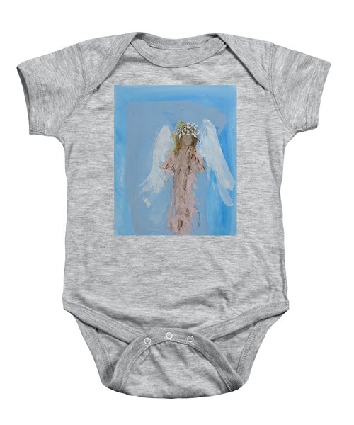 Angel With A Crown Of Daisies Baby Onesie