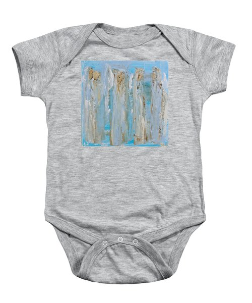 Angels Coming Together Baby Onesie