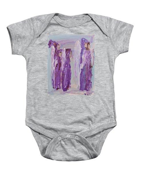 Angels In Purple Baby Onesie