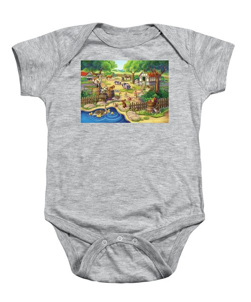 Animals At The Petting Zoo Baby Onesie