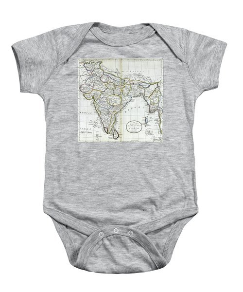 Antique Map Of India   Baby Onesie