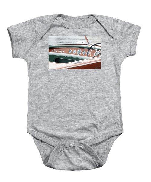 Antique Wooden Boat Dashboard 1306 Baby Onesie