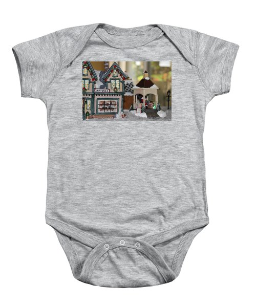 Antiques In Christmas Town Baby Onesie