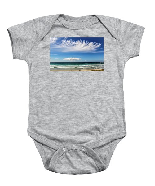 Aotearoa - The Long White Cloud, New Zealand Baby Onesie