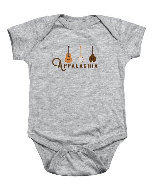Appalachia Mountain Music White Mountains Baby Onesie