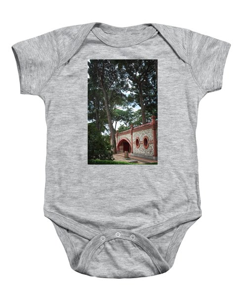 Architecture At The Gardens Of Cecilio Rodriguez In Retiro Park - Madrid, Spain Baby Onesie
