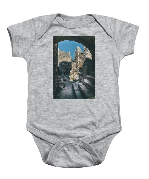 Architecture Of Old Vathia Settlement Baby Onesie