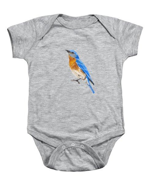Cute Eastern Bluebird  Baby Onesie