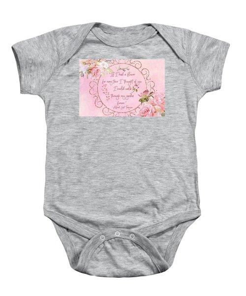 If I Had A Flower Love Artwork Baby Onesie