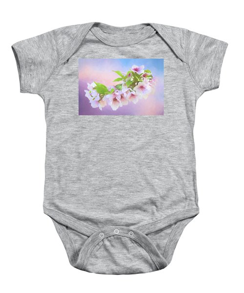 Charming Cherry Blossoms Baby Onesie