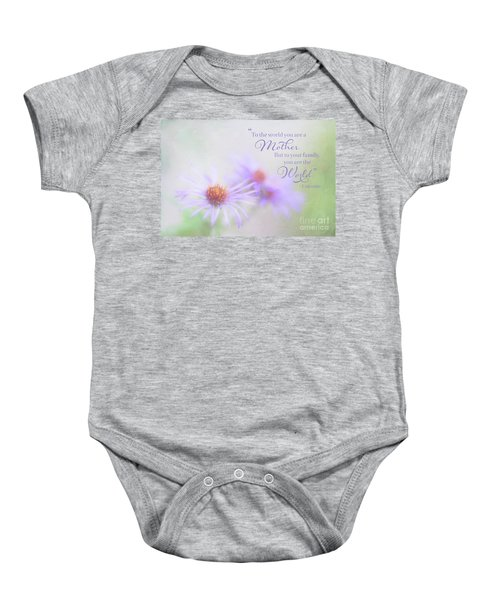 Asters For Mother's Day Baby Onesie