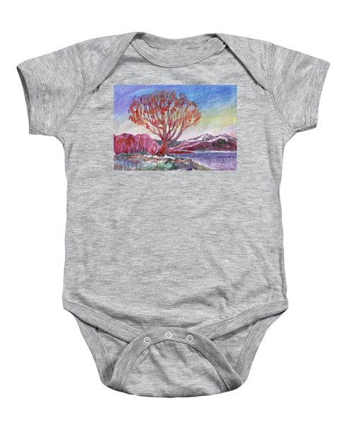 Autumn Tree By The River Baby Onesie