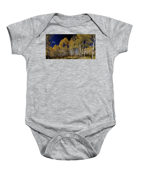 Baby Onesie featuring the photograph Autumn Walk In The Woods by James BO Insogna