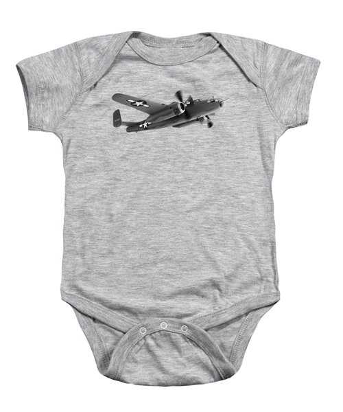B-25 Mitchell In Black And White Baby Onesie