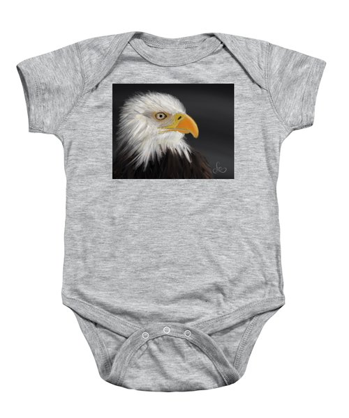 Baby Onesie featuring the pastel Bald Eagle by Fe Jones