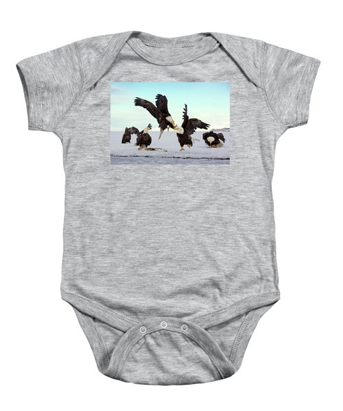 Bald Eagle Fight Baby Onesie
