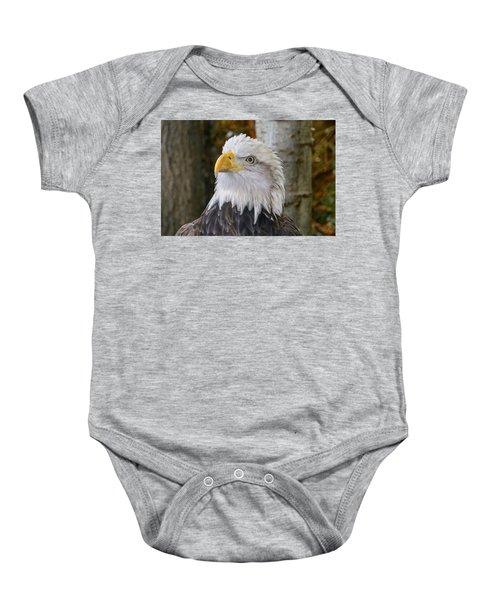 Bald Eagle Portrait Baby Onesie