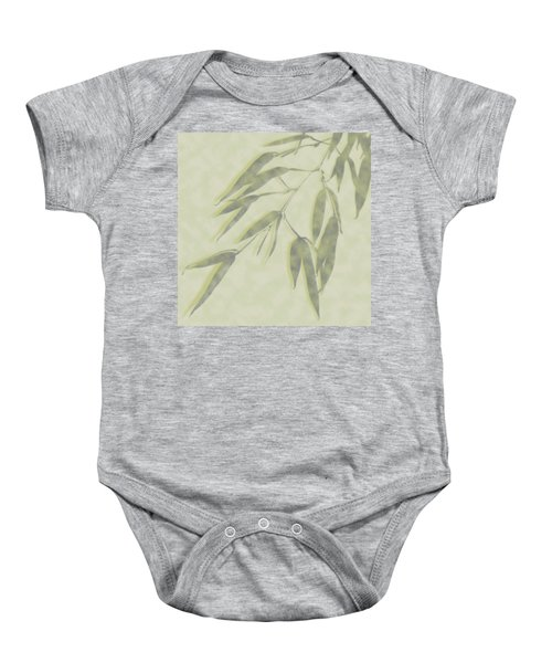 Bamboo Leaves 0580c Baby Onesie