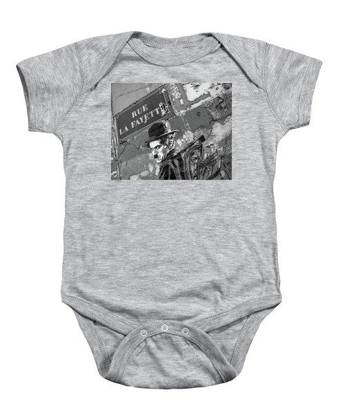 Banksy Rue La Lafayette Baby Onesie