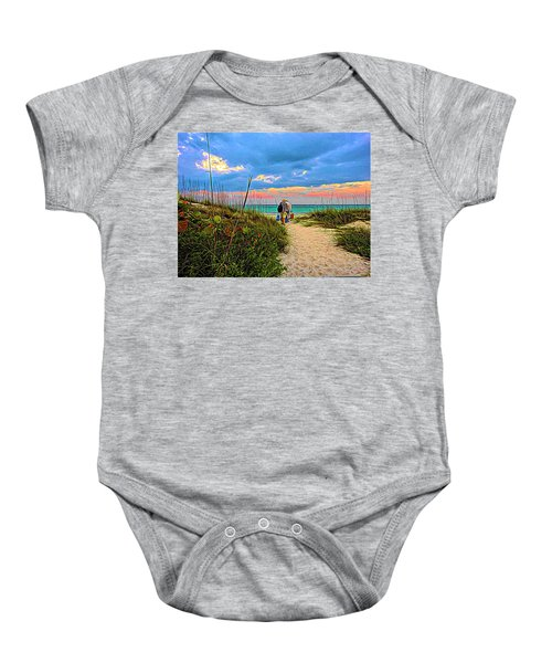 Beginning Of A Fishing Story Baby Onesie