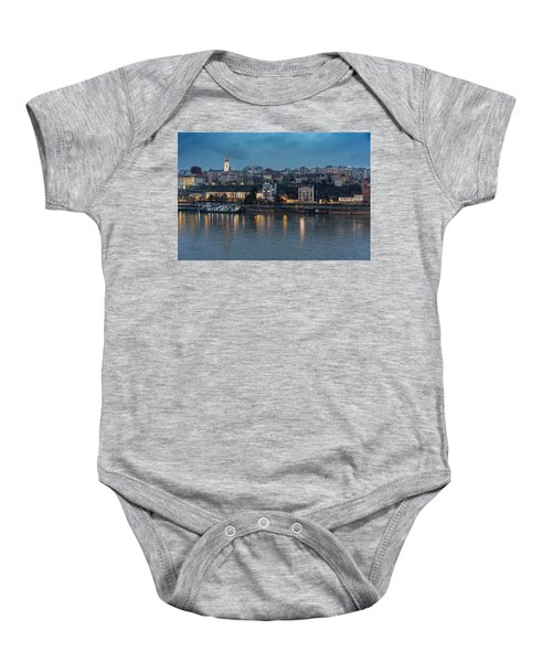 Belgrade Skyline And Sava River Baby Onesie