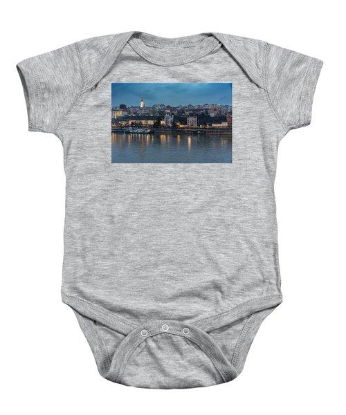 Belgrade Skyline And Sava River Baby Onesie