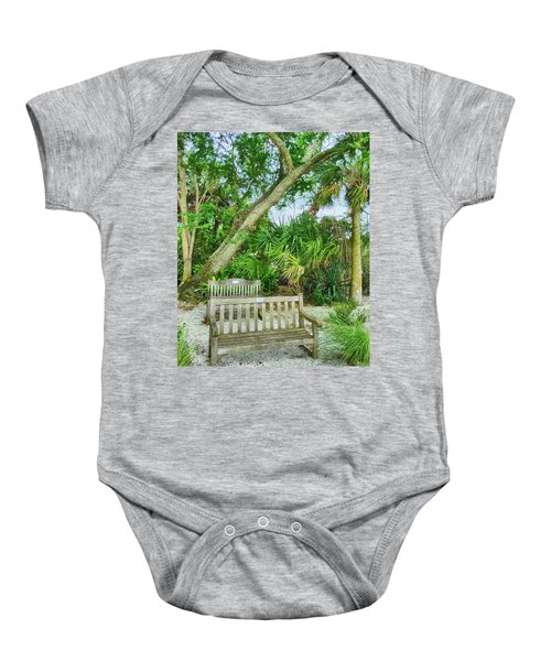 Bench View Baby Onesie