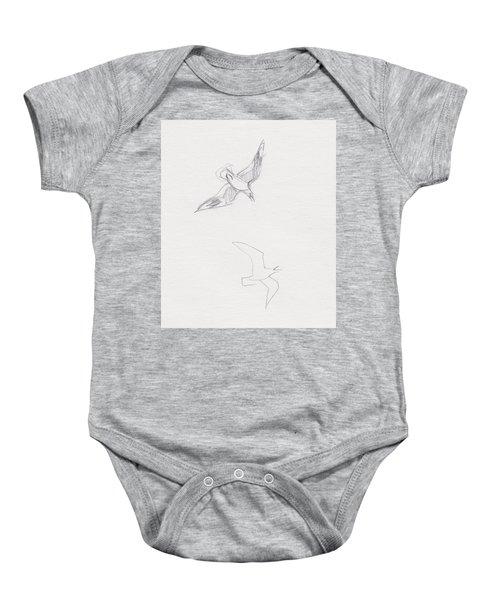 Black-billed Gulls Baby Onesie