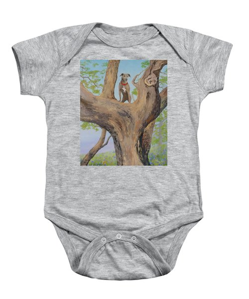 Blue Lacey In A Tree Baby Onesie