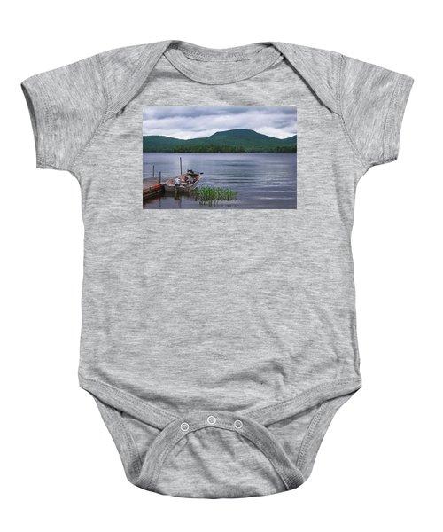 Blue Mountain Lake Baby Onesie