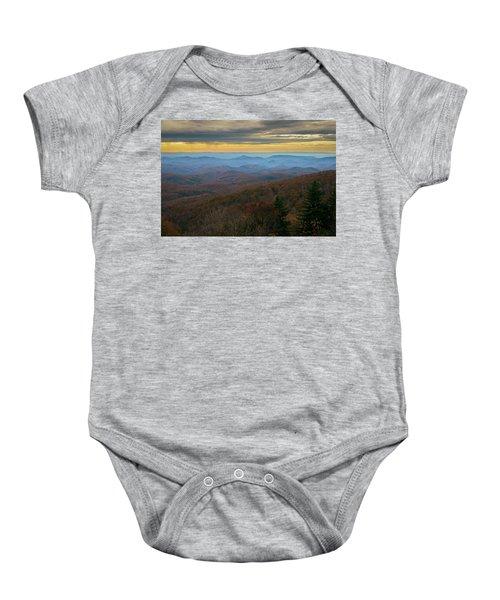 Blue Ridge Parkway - Blue Ridge Mountains - Autumn Baby Onesie