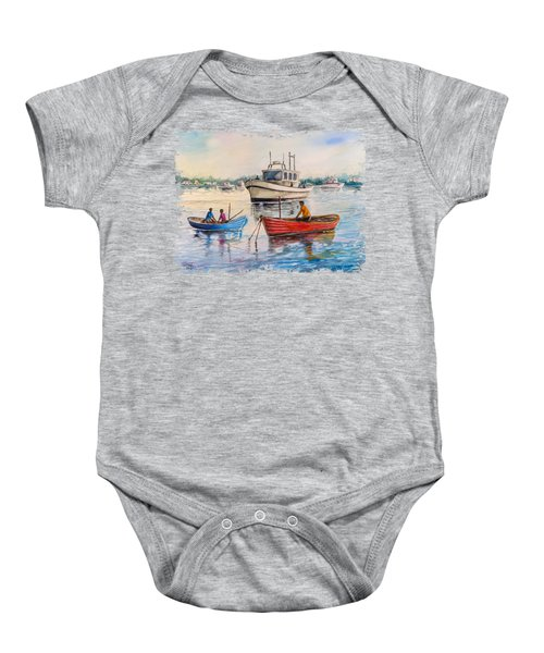 Boats On A Lake Baby Onesie