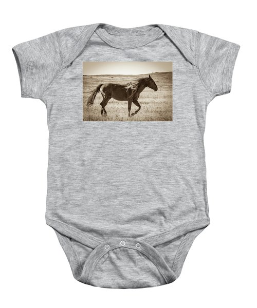 Baby Onesie featuring the photograph Born To Be Wild by Mary Hone