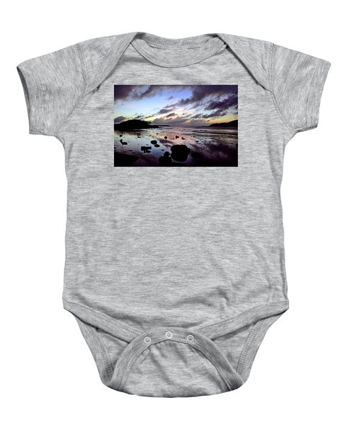 Bright Mirror Of Sunset Light Baby Onesie