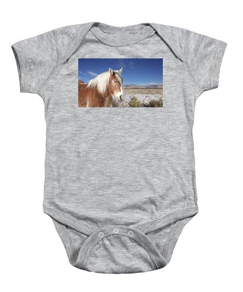 Brown Horse  Baby Onesie