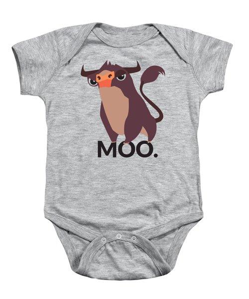 Bull Illustration - Moo Baby Onesie