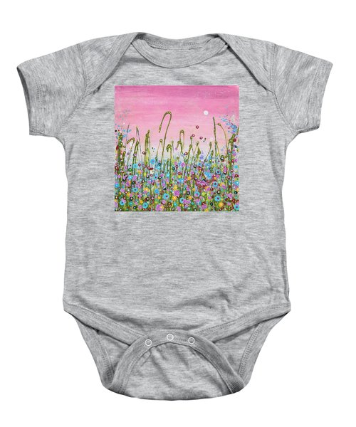 Buttercups And Lilacs Baby Onesie