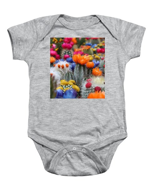 Cacti Flowers Baby Onesie